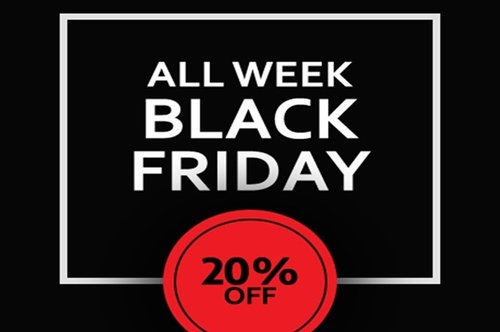 АLL WEEK BLACK FRIDAY -20% ОFF ALL NEW MODELS